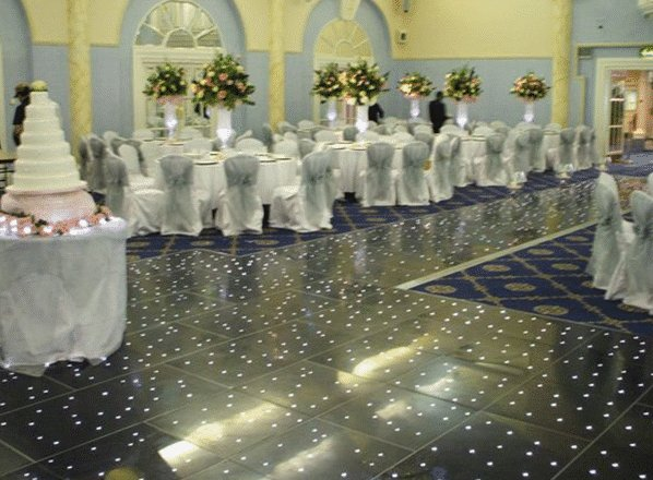 Black Starlit Dance Floor Hire