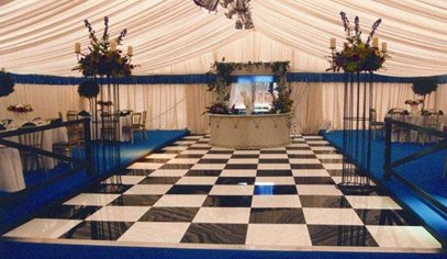 Chequered Acrylic Dance Floor Hire