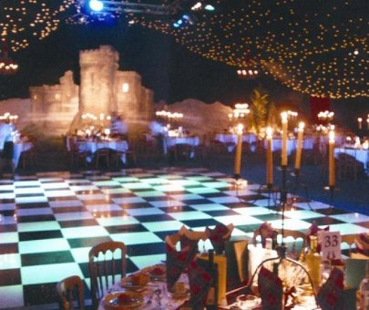 Chequered Dance Flooring Hire
