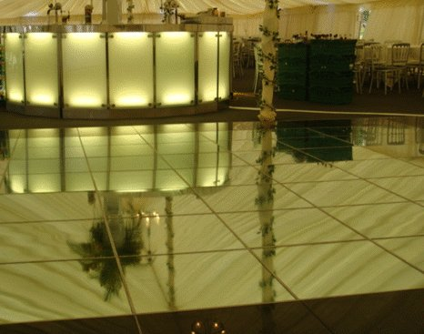 Mirrored Dance Flooring Hire fro Surrey