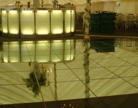 Mirrored Dance Flooring Hire fro Surrey