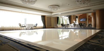 White Acrylic Dance Floor Hire